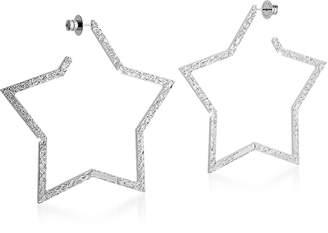 Rebecca R-ZERO Rhodium Over Bronze Star Earrings