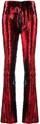 Marques Almeida Sequinned Flared Trousers
