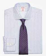 Brooks Brothers Non-Iron Madison Fit Alternating Triple Stripe Dress Shirt