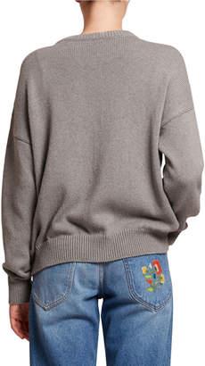 Loewe Logo-Stitched Crewneck Sweater