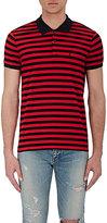 Saint Laurent Men's Striped Piqué Polo Shirt