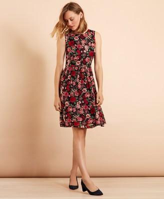 Brooks Brothers Floral-Print Chiffon Dress