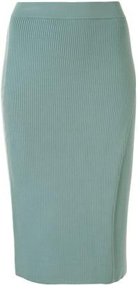 Jonathan Simkhai Ribbed Pencil Skirt