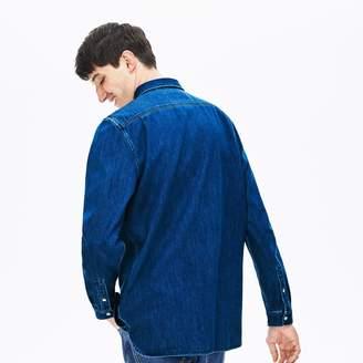 Lacoste Men's Loose Fit Snap-Button Denim Shirt