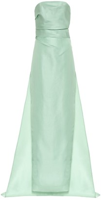 Monique Lhuillier Off-the-shoulder silk gown