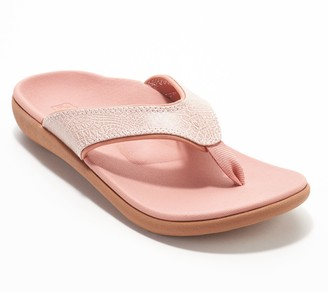 Spenco Orthotic Thong Sandals - Yumi Croco