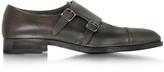 Fratelli Rossetti Tobacco Leather Men's Monk Strap Shoe