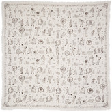 Alexander McQueen Ivory Circus Tricks Scarf