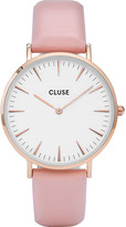 Cluse CL18014 La Bohà ̈me stainless steel and leather watch