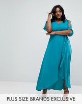 Truly You Wrap Maxi Dress