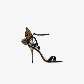 Sophia Webster Black Chiara 100 Leather Sandals