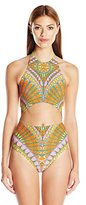 Trina Turk Women's Capri High Neck One Piece Swimsuit