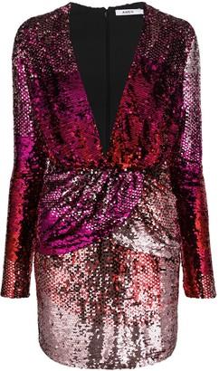 Amen Sequinned Gradient-Effect Dress