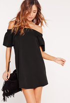 Missguided Bardot Shift Dress Black