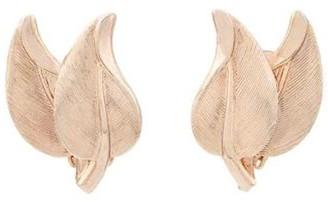 Susan Caplan Vintage 1970s Vintage Bergere Leaf Clip-on Earrings