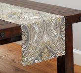 Pottery Barn Anton Paisley Table Runner, Neutral