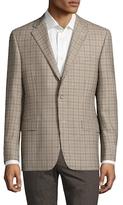 Hickey Freeman Wool Checkered Notch Lapel Sportcoat