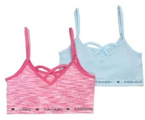 Tahari Girls Tahari Big Girl Seamless 2-Pack Bra with Removable Cups