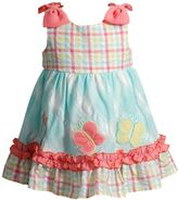 Youngland Toddler Girl Seersucker Butterfly Sundress