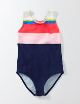 Boden Rainbow Striped Swimsuit