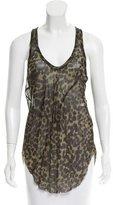 Etoile Isabel Marant Leopard Print Sleeveless Top