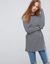 Asos Stripe T-Shirt with Long Sleeve in Oversize Fit