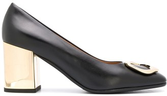 Fratelli Rossetti Abstract Buckle Pumps