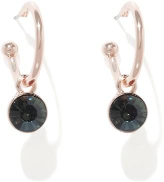 Forever New Sia Rim Set Hoop Earrings - Black Diamond - 00