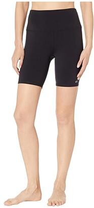 Alo High-Waisted Biker Shorts (Black) Women's Shorts