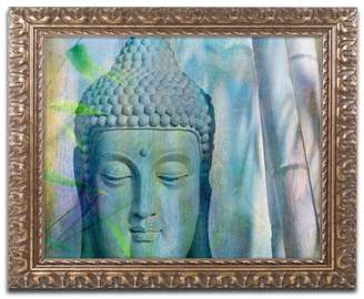 Trademark Fine Art Cora Niele 'Buddha with Bamboo' Ornate Framed Art