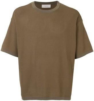 Cerruti textured crew neck T-shirt