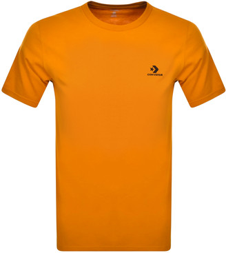 Converse Star Chevron Logo T Shirt Orange