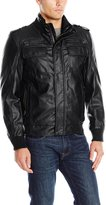 Calvin Klein Men's Faux Leather Bomber