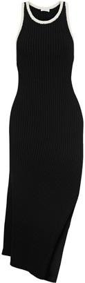A.L.C. Annina Asymmetric Crochet-trimmed Ribbed-knit Dress