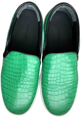 Celine Green Leather Trainers