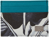 Dolce & Gabbana Multicolor Banana Leaf Print Cardholder