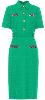 Gucci Tweed wool midi dress