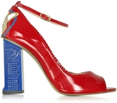 Camilla Elphick Pez Classics Princess Corgi Red Patent Leather Pump
