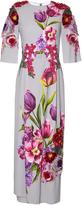 Dolce & Gabbana Floral-appliqué and print dress