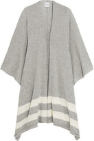 Madeleine Thompson Striped Cashmere Wrap - Gray