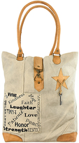 Vintage Addiction Tan 'Love Faith Laughter' Canvas Tote