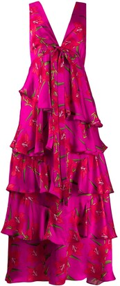 Borgo de Nor Flavia floral ruffled dress