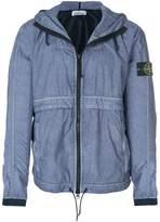 Stone Island zip front hooded jacket