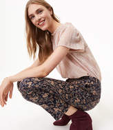 LOFT Slim Paisley Floral Jacquard Pants in Marisa Fit
