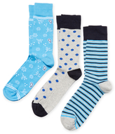 Assorted Printed Socks (3 PK)
