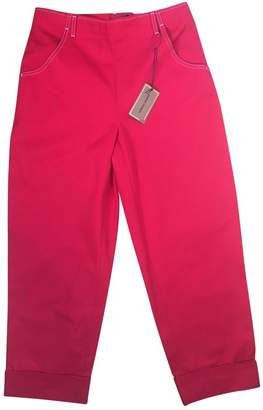 Vanessa Seward Red Cotton Trousers