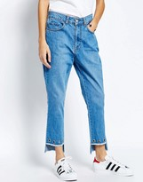 See You Never Denim See You Never Step Hem Eyelet Jeans
