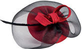 San Diego Hat Company Women's Jaquard Fascinator with Sinamay Veil/Bow DRS3557