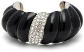 Saint Laurent Crystal-embellished Twisted Cuff - Womens - Black