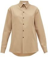 Jil Sander Linen-twill Shirt - Womens - Camel